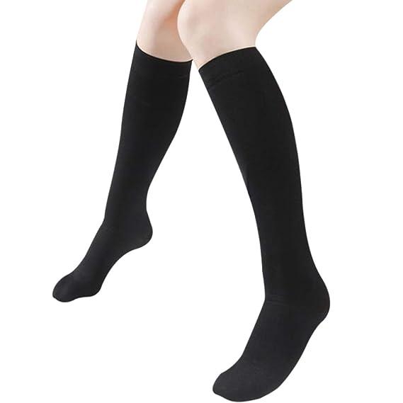 WhiFan 3 pares de calcetines largos para mujeres sobre la rodilla muslo calcetines altos: Amazon.es: Ropa y accesorios