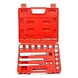 8milelake 17Pc Aluminium Wheel Bearing Race & Seal Bush Driver Set Garage Tool Kit w/ Case