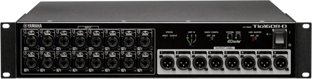 Yamaha Tio1608-D 16-Input, 8-Output Dante Stage Box for TF Series by Yamaha