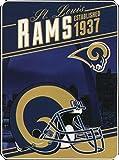 "Northwest NFL St. Louis Rams Plush Raschel 60 x 90"" Blanket"