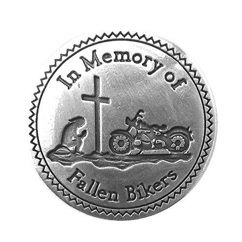 Biker Concho (Fallen Biker Sterling Plated Hand-Rubbed Antique Finish Conchos)
