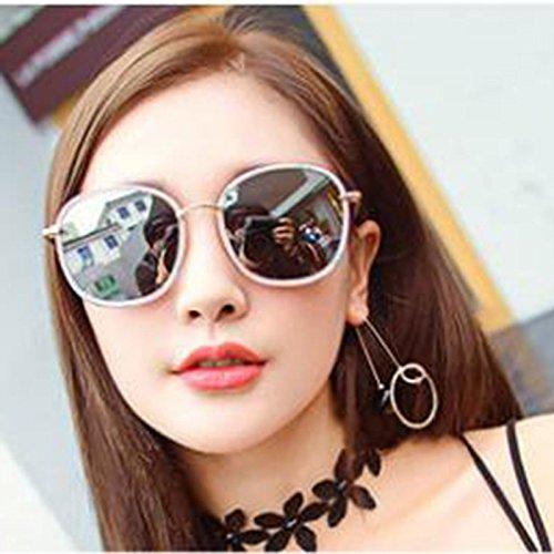 Soleil Couleur 2 personnalité Style 1 de Face TD Big Visage Femme de Rond Coréen Lunettes pqWE7A
