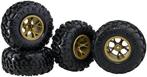 RC 0901-3001 Rubber Tires Wheel Sets 4P For HSP HPI 1:10 Monster