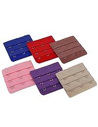 Women Lingerie Accessories Adjustable Bra Extender Straps Clip Color Set, 3 Hooks