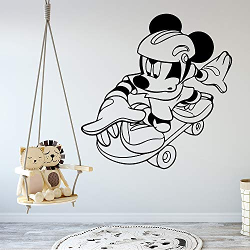 Mickey Minnie Mouse Wall Art Decal Sticker DIY Art Mickey Mouse Self Adhesive Vinyl Wallpaper for Kids Room Decoration Home Decoration -