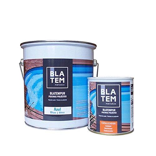 Peinture pour piscine coque Polyester Bleu Azur 4 L Blatem