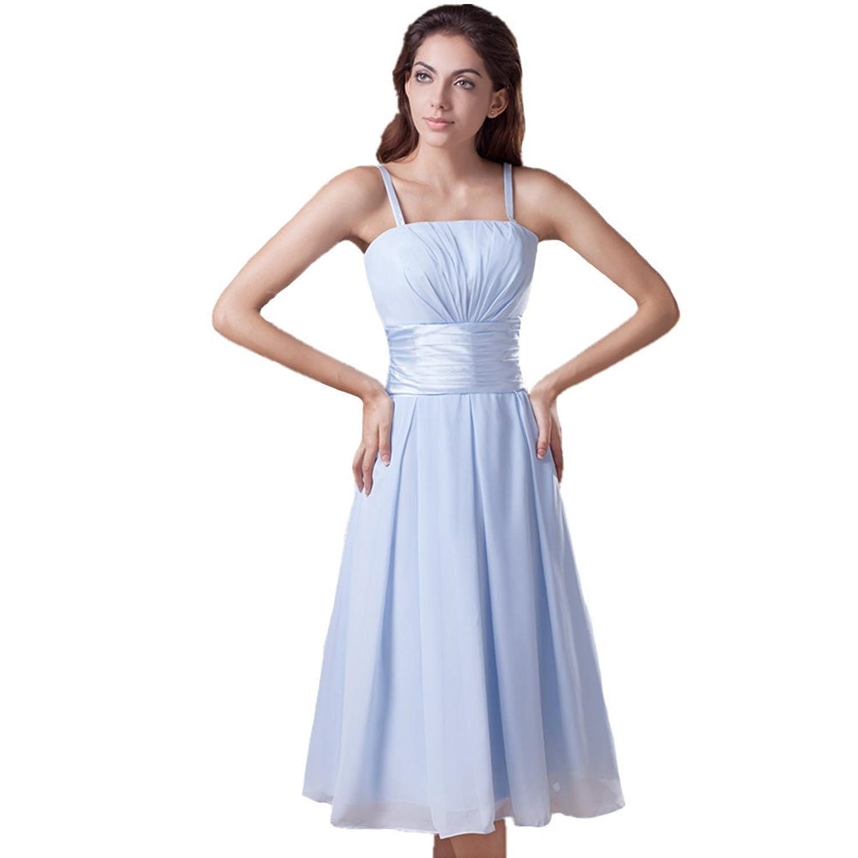 Jspoir Melodiz Women's Chiffon Spaghetti Strap Cocktail Bridesmaid Dress