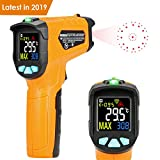 Infrared Thermometer Kasimir AD50 Digital Laser Non Contact Cooking IR Temperature Gun -58°F ~1112°F with Color Display 12 Points Aperture for Kitchen Food Meat BBQ Automotive and Industrial