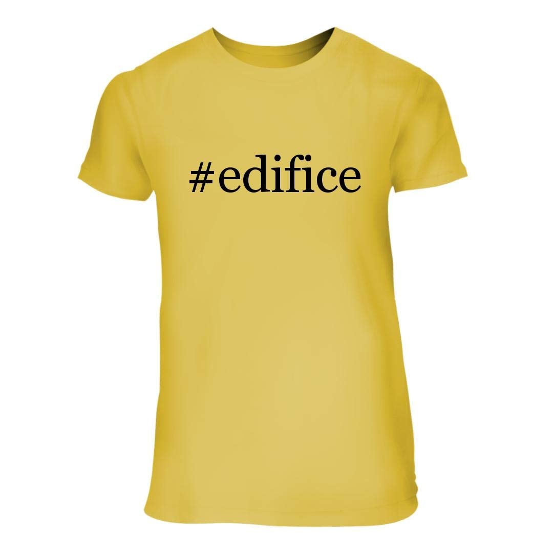 #Edifice - A Nice Hashtag Junior Cut Women's Short Sleeve T-Shirt, Yellow, Large by Shirt Me Up