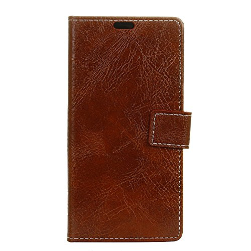 (Scheam Kyocera Android One X3 Wallet Case, [Folio Style ] Premium Kyocera Android One X3 Card Cases Stand Feature Kyocera Android One X3 [Brown ] Cellphone Case Flip Cover Cellphone Case )
