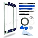 SAMSUNG GALAXY S6 SM G920 BLUE DISPLAY TOUCHSCREEN REPLACEMENT KIT 12 PIECES INCLUDING 1 REPLACEMENT FRONT GLASS FOR SAMSUNG GALAXY S6 SM G920 / 1 PAIR OF TWEEZERS / 1 ROLL OF 2MM ADHESIVE TAPE / 1 TOOL KIT / 1 MICROFIBER CLEANING CLOTH / WIRE