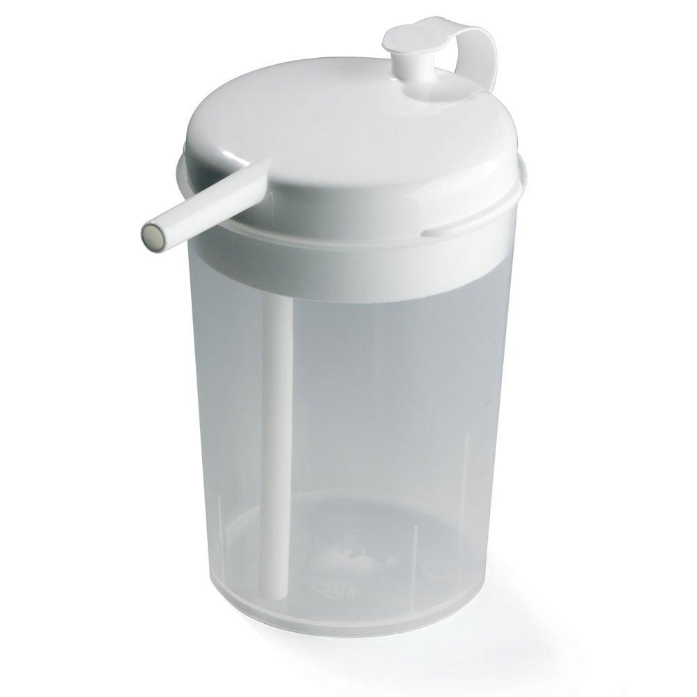 Maddak Ableware 8 1/2 Oz Translucent Plastic Novo Cup - 2 7/8 Dia x 4 5/8 H