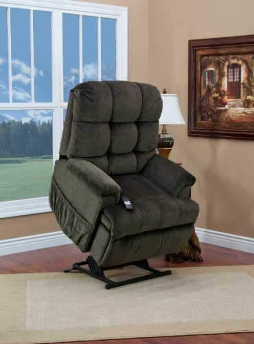 Med-lift 5555 Series Petite Sleeper/Reclining Lift Chair-Cabo Godiva, 5555P-CAG, 5555P CAG, 5555PCAG