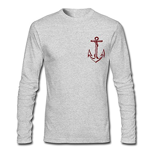 Anchor Long Sleeve T-shirt (Wenguniqueness Cool Anchor Mens' Comfort Soft Long Sleeve T-Shirt)