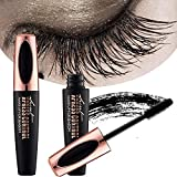 ZDU 4D Silk Fiber Eyelash Mascara Extension Makeup Black Cold Waterproof Kit Eye Lashes