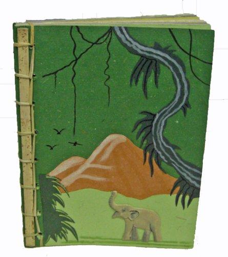 Mr. Ellie Pooh Poo Paper Bamboo Spine Notebook, Dark Gree...