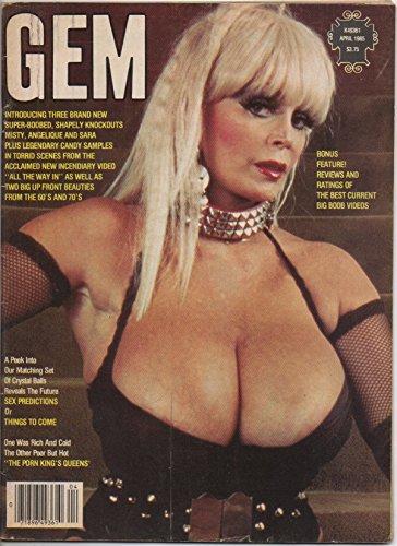 Gem (adult nude magazine), vol. 26, no. 6 (April 1985) (Candy Samples cover): Joyce Gibson & Sara Wine nude,