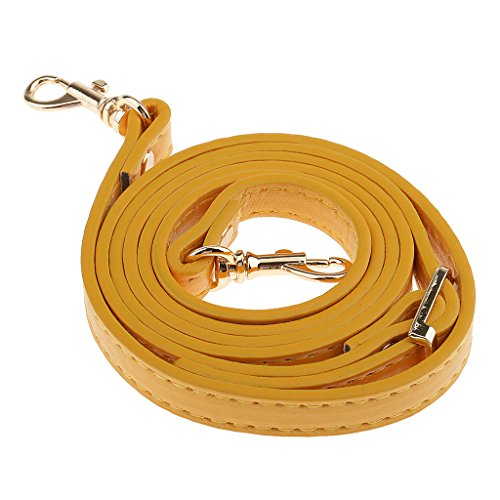 Adjustable Bag Bag Shoulder Handbag Strap FITYLE Holer Beige Leather PU Accessories 120cm Handle Yellow 4HwnWnq5B