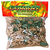100 BOYS PLASTIC COMBAT MISSION TOY SOLDIERS BAG BUCKET PARTY BAG FILLERS [importación inglesa]