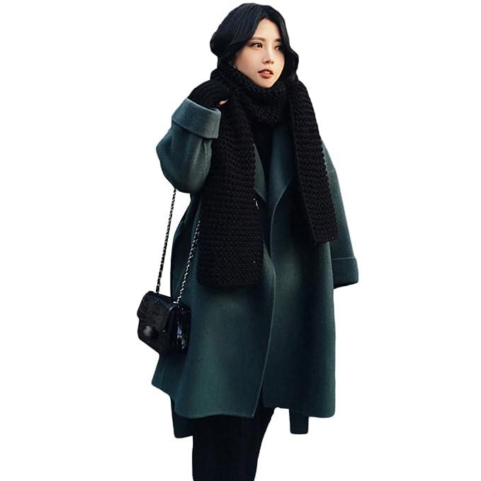 YAANCUN Mujer Estilo Coreano Solapa Invierno Abrigo Casual Chaqueta De Lana Parka: Amazon.es: Ropa y accesorios