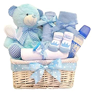 7aa3dea5aa1f Cuddles Time LARGE DELUXE Baby Boy Gift Basket   Gift for Baby Boy ...