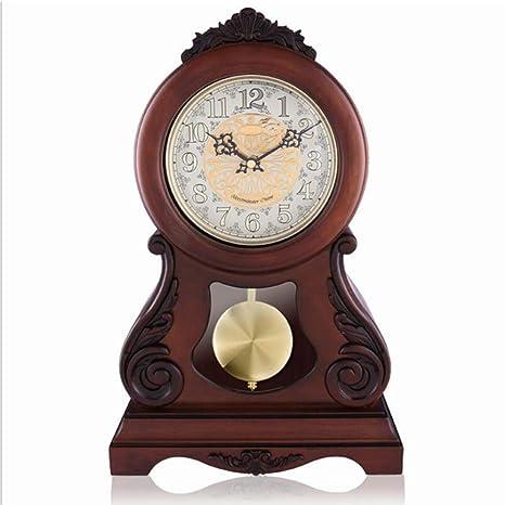 GongDi Reloj de Mesa Mantel Relojes Madera Europea Sala de Estar ...