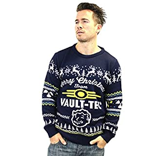 Vault Tec Christmas Sweater.Fallout 4 Official Vault Tec Ugly Christmas Sweater 3x