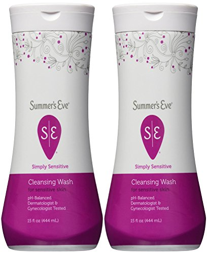 Summer's Eve Cleansing Wash for Sensitive Skin, Simply Sensitive, 15 Ounce (Pack of 2)