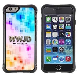 LASTONE PHONE CASE / Suave Silicona Caso Carcasa de Caucho Funda para Apple Iphone 6 / BIBLE Wwjd - What Would Jesus Do?