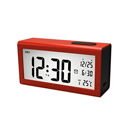 MagiDeal LCD Reloj de Escritorio Despertador Digital + Calendario Temperatura Termómetro Decoración de Coche Oficina Casa