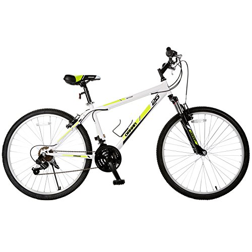 ORKAN 26'' Mountain Bike Shimano Hybrid 18 Speed Bicycle School Sports White by ORKAN