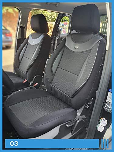 Maat stoelhoezen compatibel met Nissan Qashqai I J10 bestuurder en passagiers vanaf 2007-2013 FB: 03