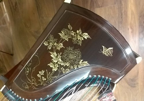Dunhuang Yun Collection East Indian Rosewood Zitan Guzheng 898T with Master Xu Signature by Dunhuang