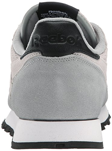 Reebok Mens CL Leather MP Classic Sneaker Steel/Flat Grey/Black/White N81AC