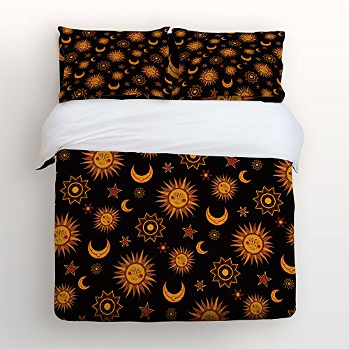 Libaoge Piece Bed Sheets Set Sunshine Hippie Mandala Pattern Sun - Orange print sheets