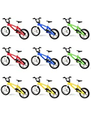 Hotusi 9pcs Mini Finger Bikes Mini Extreme Sports Finger Bicycle Toy Creative Game Toy Cool Boy Gifts(Random Colors)