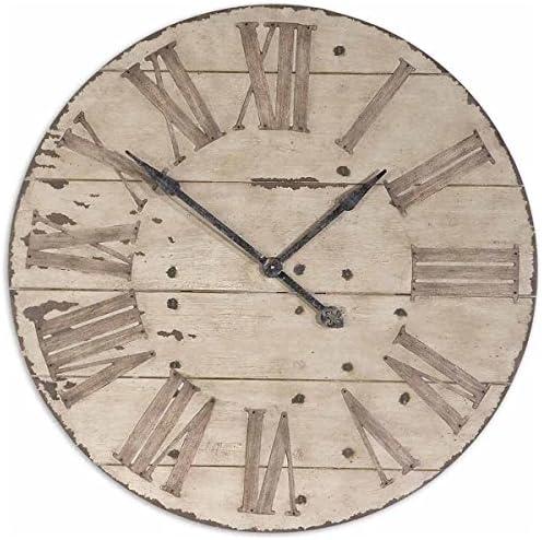 Uttermost 06671 Harrington Wooden Wall Clock, 36 , Brown