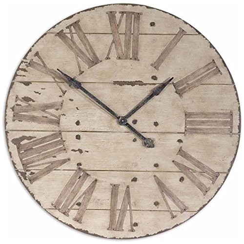 Uttermost 06671 Harrington Wooden Wall Clock, 36 , Brown