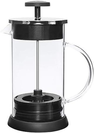 BIXUYAO Cafetera de la Prensa Francesa, cafetera de presión Francesa Grande de Primera Calidad con Filtro Reutilizable de Doble Capa de Acero Inoxidable 304, para café matutino (1000Ml),Silver: Amazon.es: Hogar