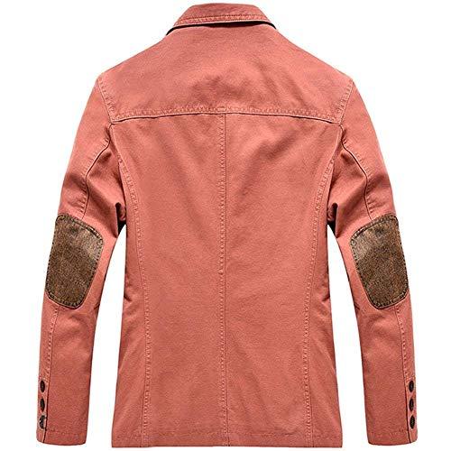 Homme De Vestes Veste Casual Mode Ouest La Tuxedo Costume Rouge Printemps Manteau Brique 5wqaq