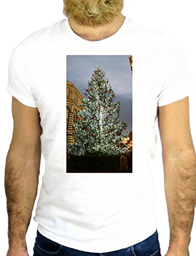 T SHIRT Z1580 CHRISTMAS XMAS THREE COOL PINE BUSH ALASKA CANADA WILDE COOL GGG24 BIANCA - WHITE S
