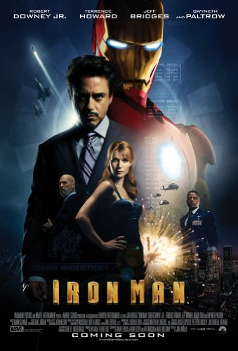 IRON MAN MOVIE POSTER 2 Sided ORIGINAL RARE INTL 27x40 ROBERT DOWNEY JR.