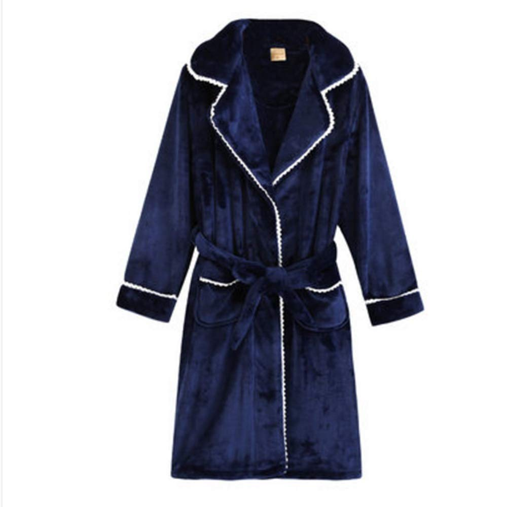 Albornoz Nan Liang 100% camisón Femenino otoño e Invierno cálido Largo Servicio a Domicilio Cómodo (Tamaño : Metro)