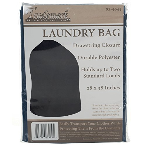 Trademark Home Heavy Duty Jumbo Sized Nylon Laundry Bag, Blue