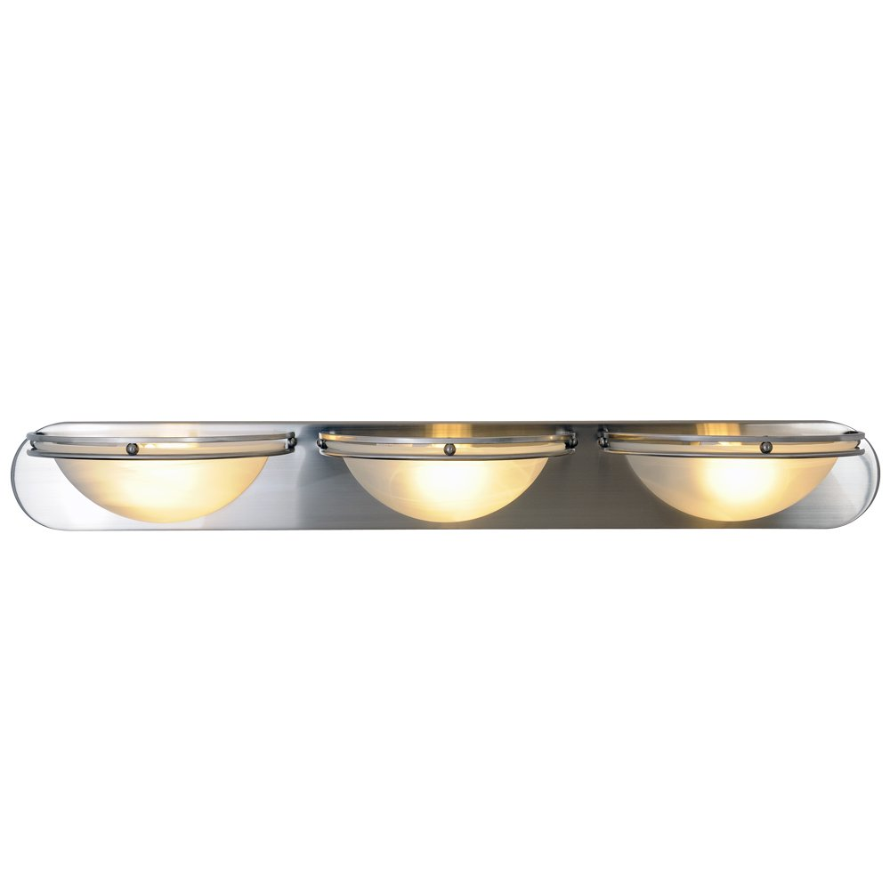 Monument 617618Contemporary Vanity Fixture, Brushed Nickel, 36 In.