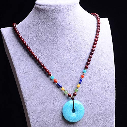 Gracelace Genuine AAA Quality ite Necklace Pendants Crystal Gemstone Round Beads
