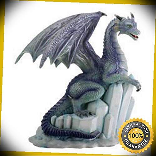 KARPP Winter Dragon on Ice Fantasy Figurine Decoration Decor Collectible Perfect Indoor Collectible Figurines