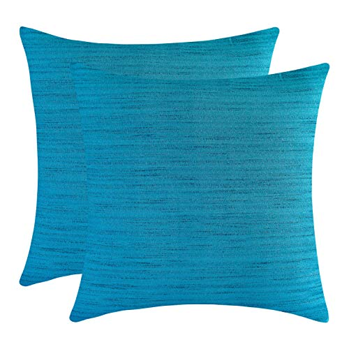 The White Petals Light Teal Euro Pillow Covers for Bed (26x26 inch, Pack of - Teal Euro Sham