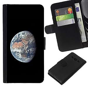 - UNIVERSE SUN PLANET SPACE COMSMOS EARTH - - Prima caja de la PU billetera de cuero con ranuras para tarjetas, efectivo desmontable correa para l Funny House FOR Samsung Galaxy A3