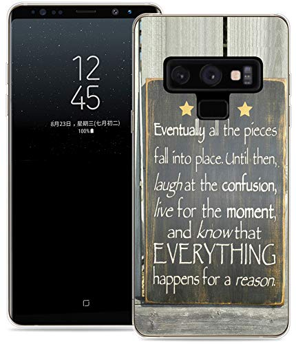 Case for Note 9 / IWONE Protective Durable TPU Rubber Fashion Designer Cover Skin Compatible for Samsung Note 9 for Galaxy Note9 + Words On Back Sayings Writings Motivational ()